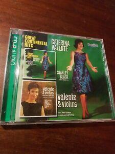CATERINA VALENTE - GREAT CONTINENTAL HITS & VALENTE & VIOLINS  STANLEY BLACK CD