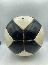 Vintage Mercury 2 Leather Soccer Ball Black And White