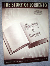 1947 THE STORY OF SORRENTO Sheet Music by Cugat, Russell, Gallagher