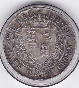 1897   Queen  Victoria   Half  Crown  (2/6d) -  92.5%  Silver  Coin