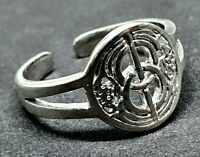 Chalice Well Toe Ring Glastonbury 925 Sterling Silver Adjustable Pagan Wiccan