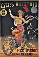 Art ad ciclos Automoto Bicicletas Bicicleta cylcle Deco cartel impresión