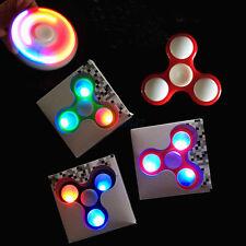 LED RAINBOW LIGHT HAND SPINNER TRI FIDGET TOY EDC FINGER GYRO FOCUS ADHD AUTISM