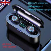 Wireless Earphones Mini Earbuds Stereo Headphones Bluetooth 5.0 Headset TWS IPX6