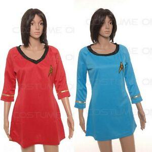 New Star Trek Female Duty TOS Uniform Dress Cosplay Standard Size V-Neck