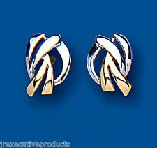 Gold Stud Earrings Two Colour Gold Earrings Yellow and White Gold Studs