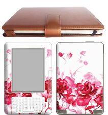 Amazon Ebook Kindle 2 Leather Case Cover Jacket + Skin