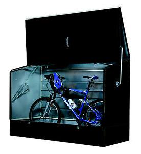 Tepro 7161 Fahrradbox anthrazit galvanisierter Stahl (verzinkt), PVC-beschichtet