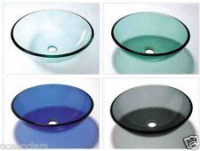 GLASS BASIN SINK WASH BOWL GREEN BLACK BLUE CLEAR BATHROOM CLOAKROOM COUNTERTOP