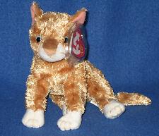 TY MATTIE the ORANGE TABBY CAT BEANIE BABY - MINT with MINT TAG