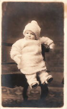 RPPC Postcard Child in snow suit + Hat FA Mack + Bro Pottsville PA