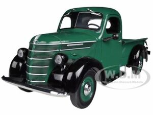 1938 INTERNATIONAL D-2 PICKUP TRUCK IH GREEN/BLACK 1/25 BY FIRST GEAR 40-0307