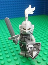 Lego Grey Crown Knight Minifig Shield Sword Figure Castle Kigdoms 71000 Series 9