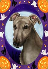 Greyhound Grey Halloween Howls Flag