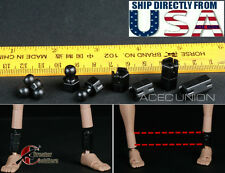 1/6 Extra Long Feet Leg Peg Joint Adapter Set For Hot Toys Phicen Ganghood USA