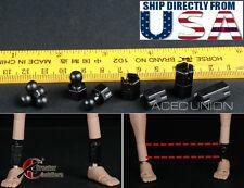 1/6 Extra Long Feet Leg Peg Joint Adapter Set For Hot Toys Phicen Ganghood USA