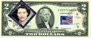 $2 DOLLARS 2003 STAR STAMP CANCEL QUEEN ELIZABETH II HRH PRINCE PHILIP  $500