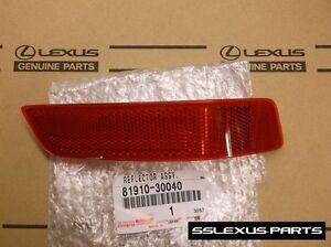 Lexus GS350 GS450H (2013-2017) OEM Rear Bumper Passenger Side RH REFLECTOR