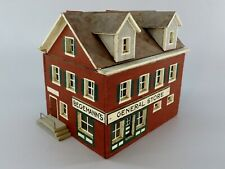 Vintage General Store Building 1940s Hand Made Folk Art 1/35 Scale Railroad Set