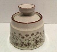 Vintage Noritake Stoneware Desert Flowers Pattern 8341 Sugar Bowl with Lid