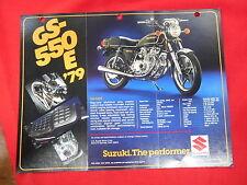 Suzuki Vintage 1979 GS550E GS550 Brochure Specification Original Motorcycle