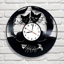 Cats in Love design vinyl record clock home decor art gift movie music hobby