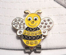 Crystal Bumble Bee Golf Ball Marker - W/Bonus Magnetic Hat Clip