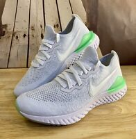 Nike Epic React Flyknit 2 Running Shoes White Lime BQ8928-100 Men's Size 11