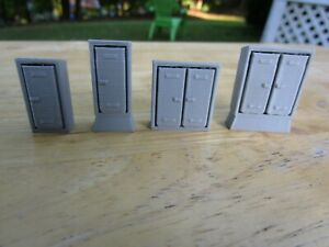 """(4) """" S """"  SCALE  TRACK-SIDE ELECTRICAL BOX'S /   L@@K   3D  PRINTED  1/64  1:64"""