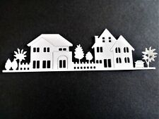 5 x row of houses, card toppers,paper craft, new home, thanks