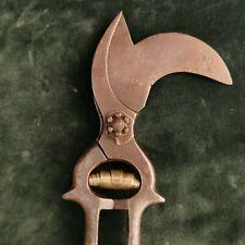Antique cast iron scissors for vinion vine pruning shears 19th century