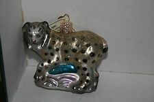 Lynx Old World Christmas glass ornament