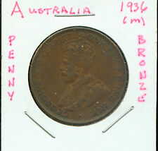WORLD COINS AUSTRALIA 1936 LARGE PENNY CH EF (G445)