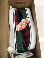 Vans Buffalo Mix Classic Slip-On Size 6