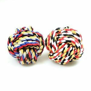Dog Rope Chew Toys Kit Tough Strong Knot Ball Pet Puppy Cotton Teething Toy 0049