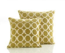 "Lime Green & Cream 18"" Luxury Soft Chenille Cushion Cover Oh"