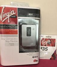 Virgin Mobile Broadband2Go MiFi 2200 Sprint 3G Internet Hotspot Plus $35 Card