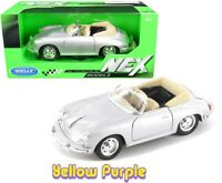 Welly 1:24 Porsche 356B Roadster Convertible Diecast Model Car Silver 29390
