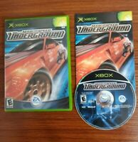Need for Speed: Underground (Microsoft Xbox, 2003) Car Racing Game COMPLETE CIB