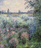 Claude Monet Seine Fine Art CANVAS Reproduction Print Wall Decoration SM 8x10