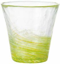 ADERIA Tsugaru Vidro Glassware Tumbler Nanohana Yellow Green 260ml F-71449 JAPAN