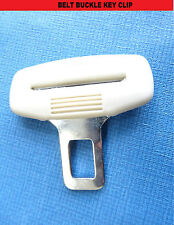 PEUGEOT CREAM SEAT BELT CLIP ALARM BUCKLE KEY BUZZER WARNING CLEARER