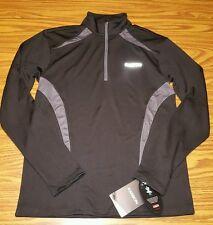 NWT Men's Karbon Mercury Zip Turtleneck Top Shirt Jacket 1/4 Zip BLACK Size S