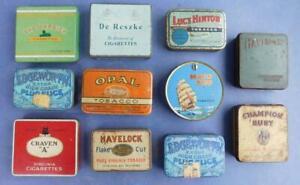 HUGE LOT! 11x Vintage Tobacco Tins EDGEWORTH LUCY HINTON OPAL Garrick etc