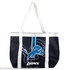 """Detroit Lions Canvas Tailgate Tote Bag Purse - [ L 15.5"""" W 6"""" H 13.5"""" ]"""