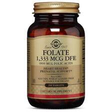 Solgar Folic Acid 800 mcg 250 Tablets FRESH Made In USA