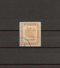 "BRUNEI 1947 SG82a ""5c Retouch""  USED Cat £100"