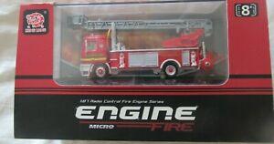 HENG LONG RADIO CONTROLLED MICRO FIRE ENGINE SCALE 1:87 BNIB No. 3801