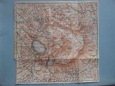 stampa antica MAPPA  FRASCATI MARINO ALBANO ARICCIA GENZANO VELLETRI NEMI 1925