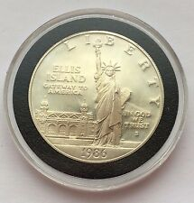 1986 ~ S ELLIS ISLAND STATUE OF LIBERTY SILVER ONE DOLLAR COIN